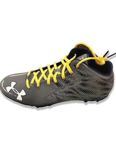 900a4541ea9f Under Armour Men's Team Nitro Mid D Football Cleats - Black/Yellow ...
