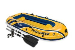 Intex Challenger Blow Up Inflatable Boat with Oars