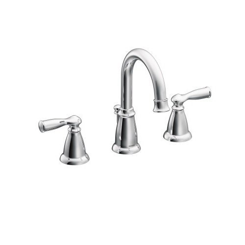 Moen banbury widespread 2 handle bathroom faucet chrome 8 ws84924 check back soon blinq for Two tone widespread bathroom faucets