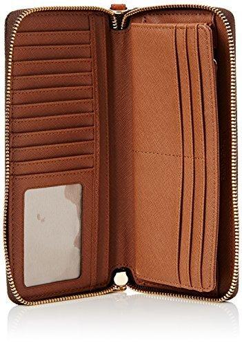 65c5049d8bdc Michael Kors Women s Mk Jet Set Travel Signature Wallet - Bwn - Size ...