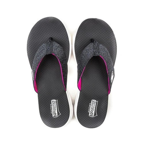 sketcher go walk flip flops
