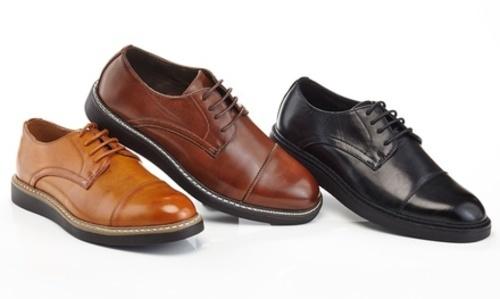 8582e7f7968 Adolfo Men s Slip-On Cap Toe Dress Shoes - Black - Size 12 - Check ...