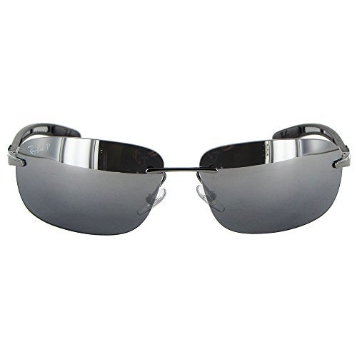 6960d8f811 ... Rayban Tech Carbon Fiber Polarized Sunglasses - Silver Gray - (RB 8303)  ...