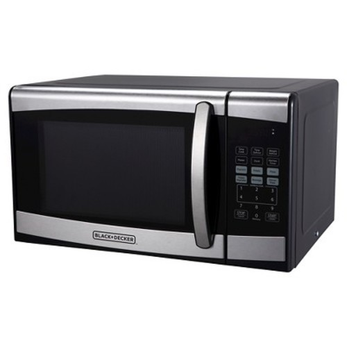 Black Decker 0 9 Cu Ft 900w Stainless Steel Microwave Oven Silver