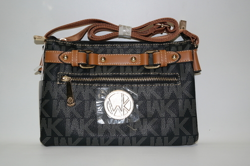 Wk Collection By Wendy Keen Crossbody Purse Black Camel