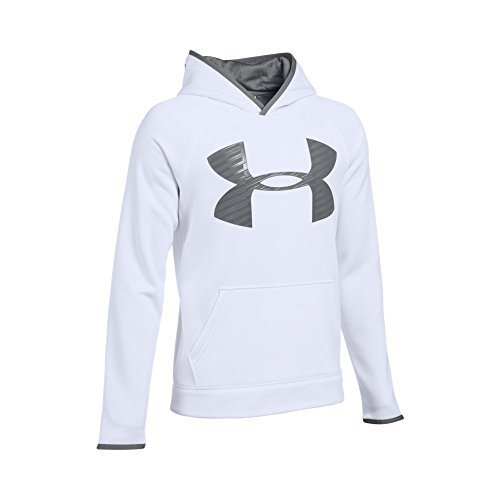29b6963f ... Under Armour Fleece Highlight Big Logo Hoodie Boys 8-20 White ...