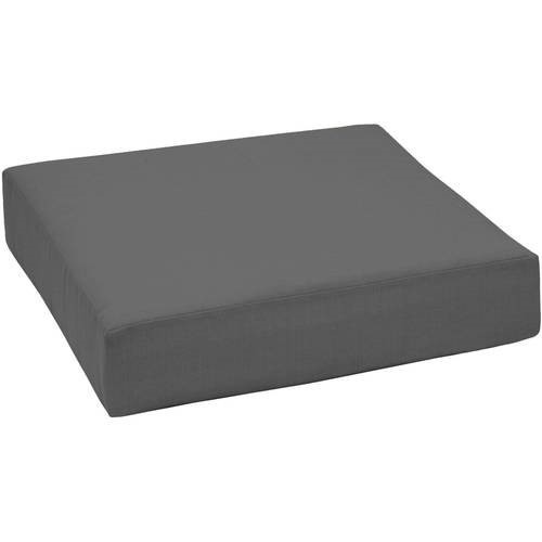 Outdoor Patio Deep Seat Bottom Cushion Grey Size 24