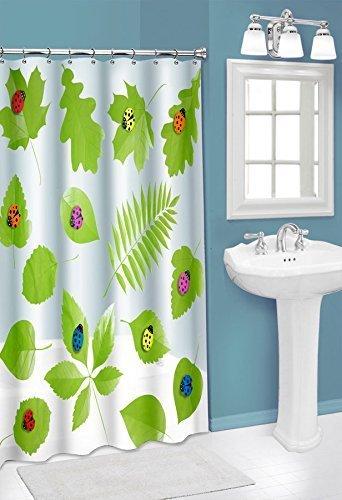Popular Bath 70x72 3D Lady Bug Semi Private Peva Shower Curtain