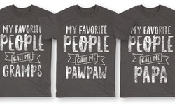 """LC Men's """"""""My Favorite People Call Me Pawpaw"""""""" T Shirts - Black - Size: L"""" 1111716"""
