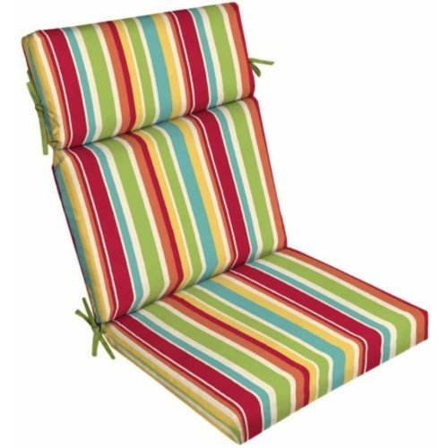 Mainstays Outdoor Patio Dining Chair Cushion Multi