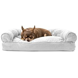 FurHaven Quilted Pillow Sofa Dog Bed Pet