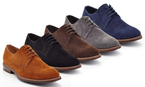Oxford Suede Dress Shoes: Brown