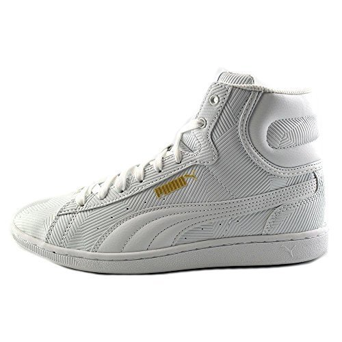 Puma Vikky Women's Mid Deboss Shoes White Size:9.5