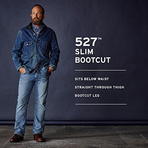 096f2b2bb43 Levi's Men's 527 Slim Bootcut Jeans - Indigo Black - Size: 34x32 ...