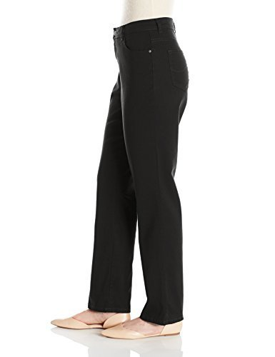 f9c2a587d09 Lee Women s Relaxed Fit Straight Leg Jeans - Black - Size  14 ...