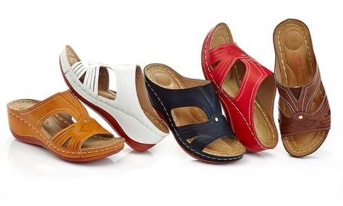 946b4085a2e Lady Godiva Women s Comfort Wedge Sandals - Black - Size 6.5 - Check ...