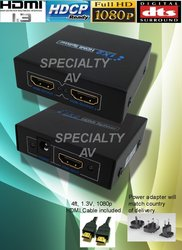 X-HDMI 1x2 3D Splitter Distribution Amplifier