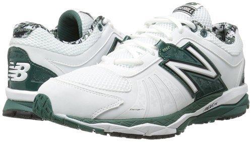 46c7e7111 New Balance Men's T1000 Turf Low Baseball Shoes - White/Green - Size ...