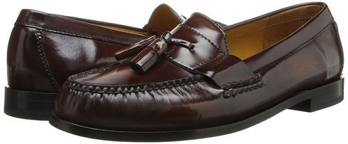 e66387fbc90 Cole Haan Men s Pinch Tassel Loafers - Mahogany - Size 10 - Check ...