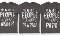 LC Men's Grandfather Pawpaw T-Shirt - Black - Size:3XL 1030603