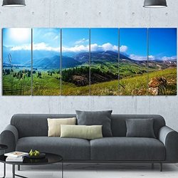 72 x 28 extra large multi panel landscape canvas prints mountain