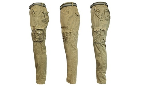 ae9dfe1c34 Galaxy By Harvic Men's Belted Cargo Pant - Olive - Size: 36x32 ...