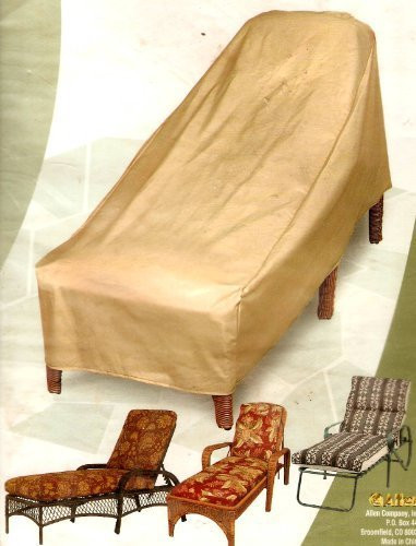 ... Allen Heavy Duty Patio Chaise Lounge Cover   Tan ...