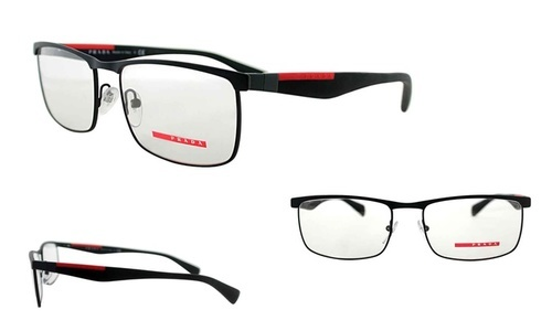 Prada Sport Men\'s Optical Rectangle Frames - Black - 55mm ...