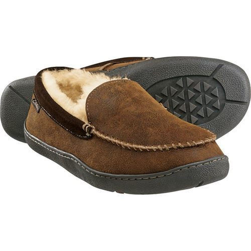 79cf5b2cd3d Cabela's Men's Leather Shearling Slippers - Brown - Size:13
