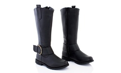 Rasolli Women's Riding Boots - Black - Size: 6