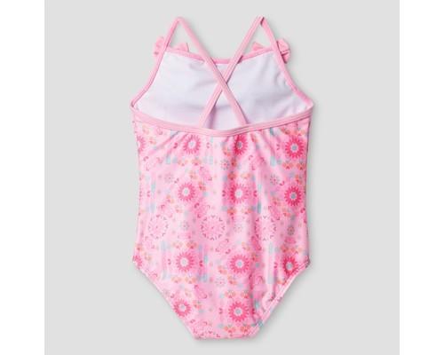 Baby Buns Toddler Girls Tribal Cutie Swimsuit Pink