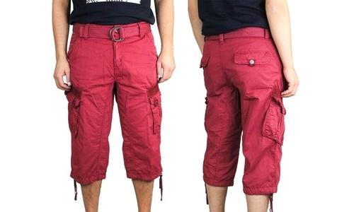 8ae216b11e X-Ray Jeans Men's Turin Cargo Shorts - Burgundy - Size: 36 - Check ...