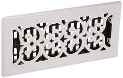 Decor Grates Steel Floor Register - White - 4