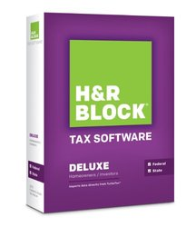 H&R Block Tax Software 2013 Deluxe + State (1336600-13)
