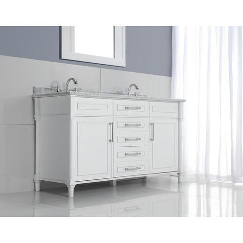 Home decorators double vanity top basin white 60 aberdeen