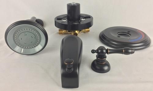 Homewerks Worldwide Baypointe Tub Shower Faucet Set 3 Piece