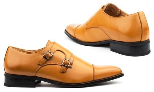 6d5f0b6c04 ... Size:11 Signature Men's Double Monk Strap Dress Shoes - Light Brown ...