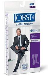 Jobst Ambition Men's 30-40mmHg Knee High - Navy - Size: 3 (7766432) 1506730