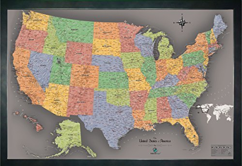 home magnetic pin travel map usa with 20 bonus pins modern color