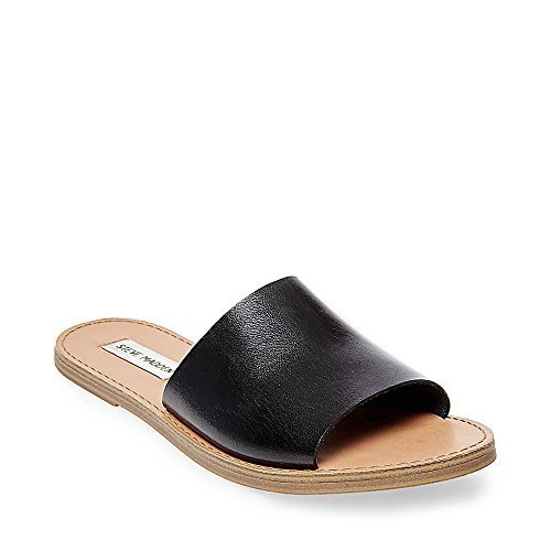 860c2a54183c Steve Madden Women's Flat Sandals - Grace Black - Size:8 - Check ...