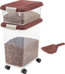 Pet Food Storage Container Set (3-piece): Chocolate