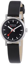 Mondaine Women's Quartz Evo Leather Band Watch - Black