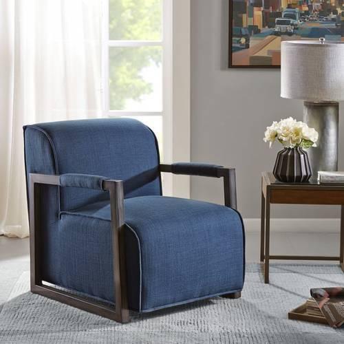 Beckett Metal Oversized Accent Arm Chair Navy Blue