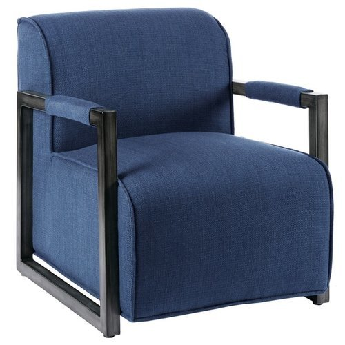 Beckett Metal Oversized Accent Arm Chair   Navy Blue ...