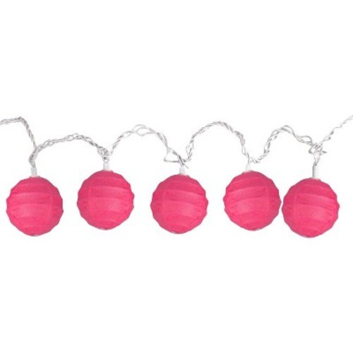 Room Essentials Paper Globe String Lights - Pink - Check Back Soon - BLINQ