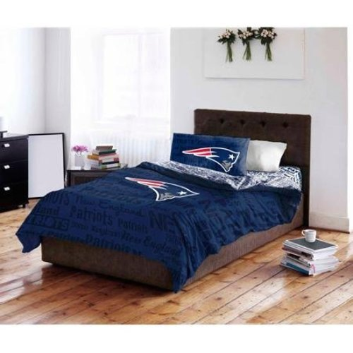 nfl new england patriots bed in a bag complete bedding set coordinated -  check back soon