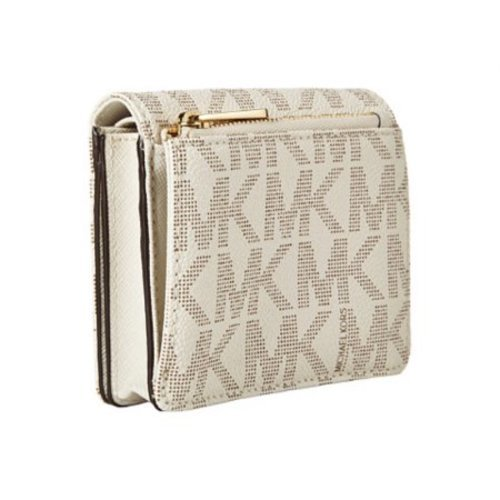 92c07f66e12c ... Michael Kors Women's Jet Set Travel Carryall Card Case - Vanilla ...