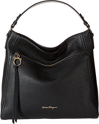 002ab34d61 Salvatore Ferragamo Women s  Gancio  Single-Strap Hobo Bag - Black ...