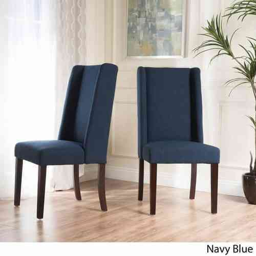 Christopher Knight Rory Wing Back Fabric Dining Chair 2 Set