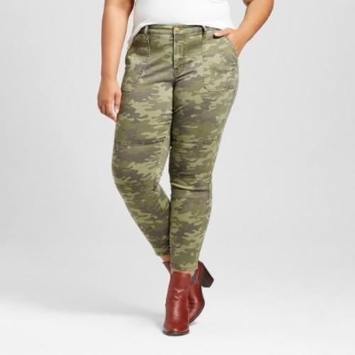 16a90ffea78 Ava   Viv Women s Plus Size Skinny Camo Utility Pants - Olive - Sz  24W -  Check Back Soon - BLINQ